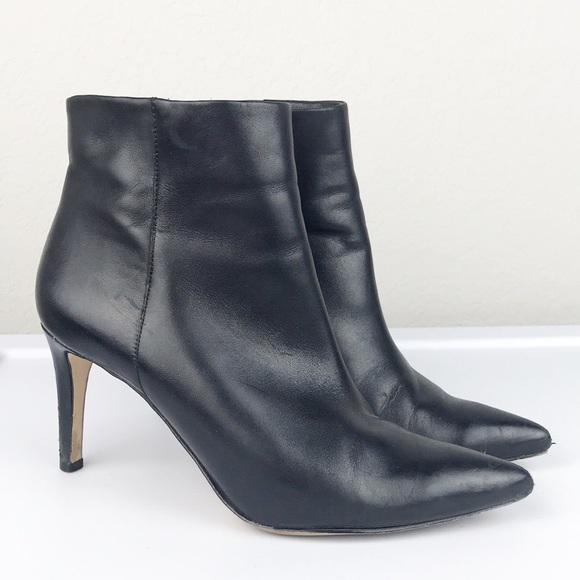 6fde968551e6fa Sam Edelman Shoes - Sam Edelman Black Leather Zipper Heel Ankle Boot